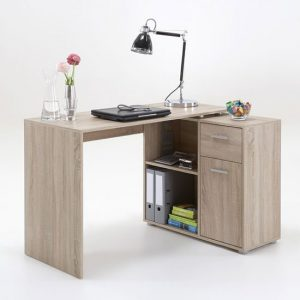 Albea Rotating Corner Computer Desk In Oaktree