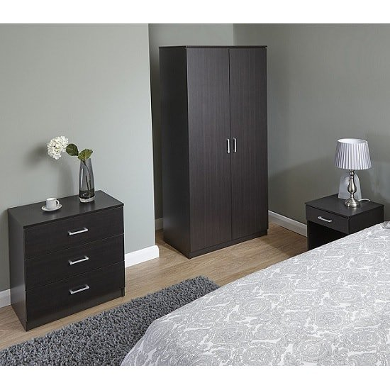 Almandite Trio Bedroom Furniture Set In Espresso