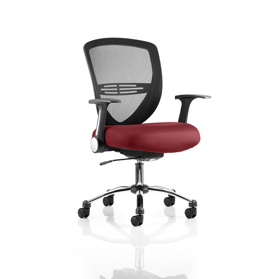 Avram Home Office Chair In Chilli With Castors