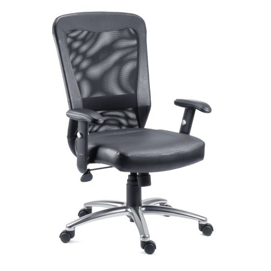 Blaze Home Office Chair In Black With Chrome Base And Wheels