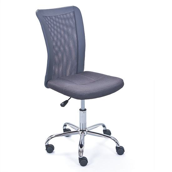 Bonnie Children Office Chair In Grey PU With Mesh Back