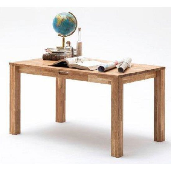 Cento 2 Knotty Oak Computer Desk With 1 Drawer