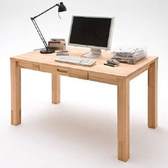 Cento 2 Solid Core Beech Computer Desk With 1 Drawer