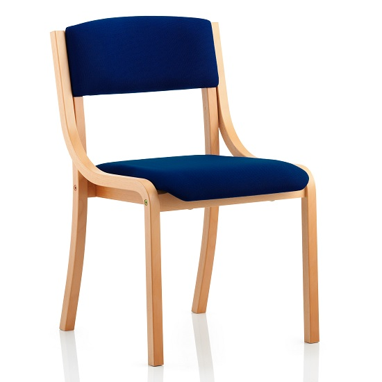 Charles Office Chair In Serene And Wooden Frame
