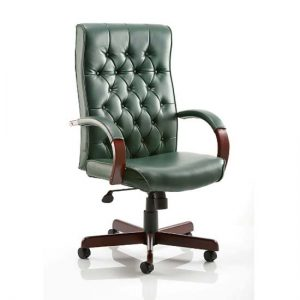 Chesterfield Green Colour Office Chair