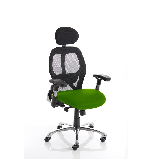 Coleen Home Office Chair In Green With Castors