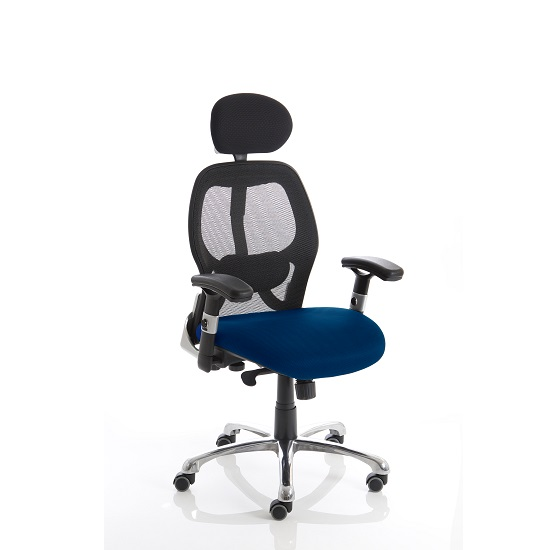Coleen Home Office Chair In Serene With Castors