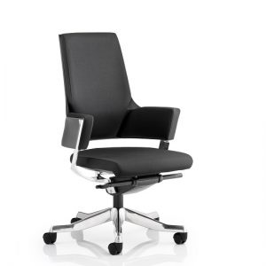 Cooper Office Chair In Black Fabric With Medium Back