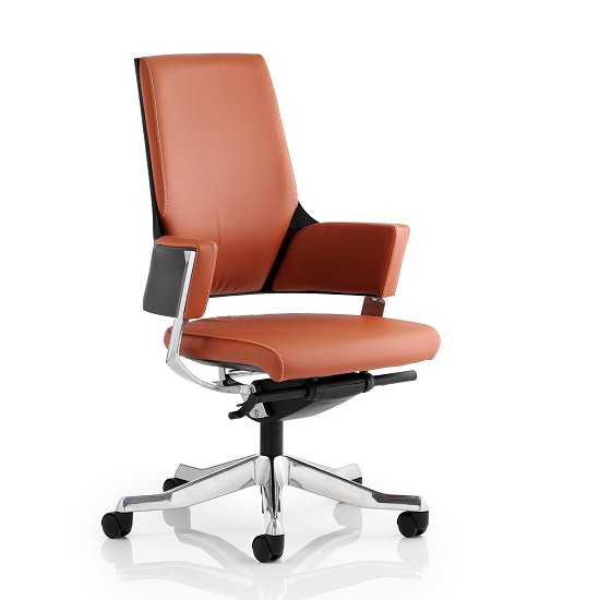 Cooper Office Chair In Tan Bonded Leather With Medium Back