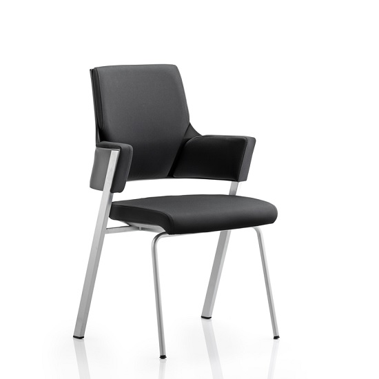 Cooper Visitor Office Chair In Black Fabric