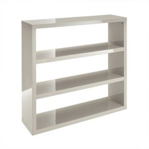 Curio Stone High Gloss Finish Bookcase With 3 Shelf