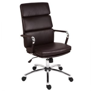 Deco Retro Eames Style Executive Office Chair In Brown