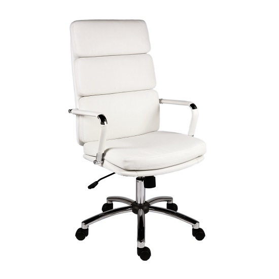 Deco Retro Eames Style Executive Office Chair In White