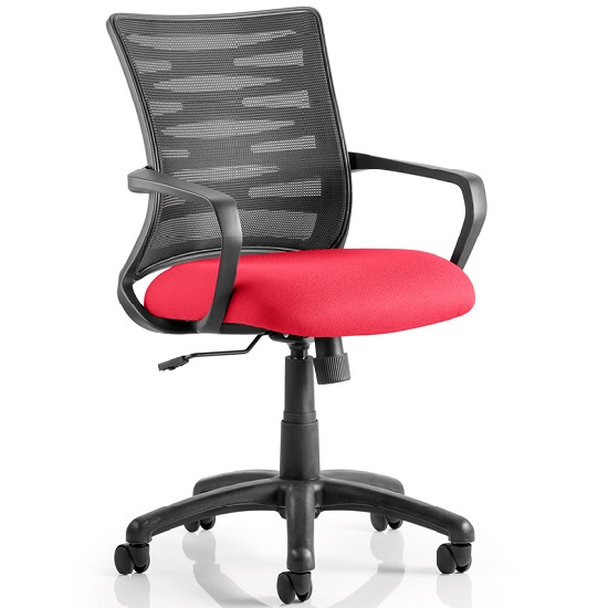 Eclipse Home Office Chair In Cherry With Castors