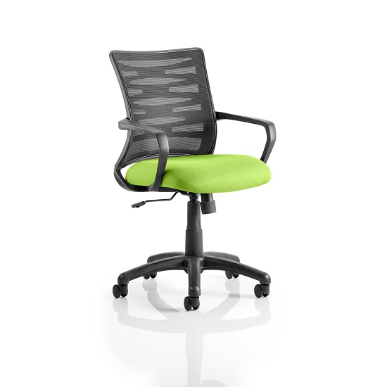 Eclipse Home Office Chair In Green With Castors