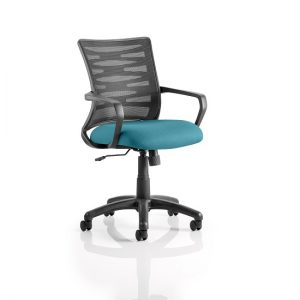 Eclipse Home Office Chair In Kingfisher With Castors