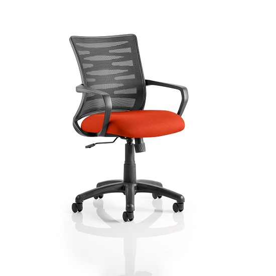 Eclipse Home Office Chair In Pimento With Castors