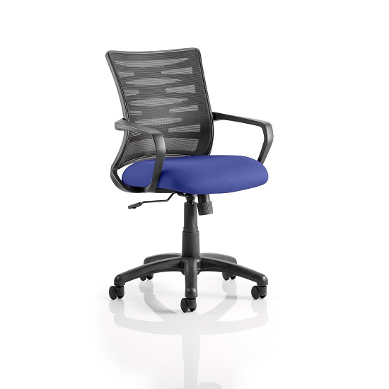 Eclipse Home Office Chair In Serene With Castors