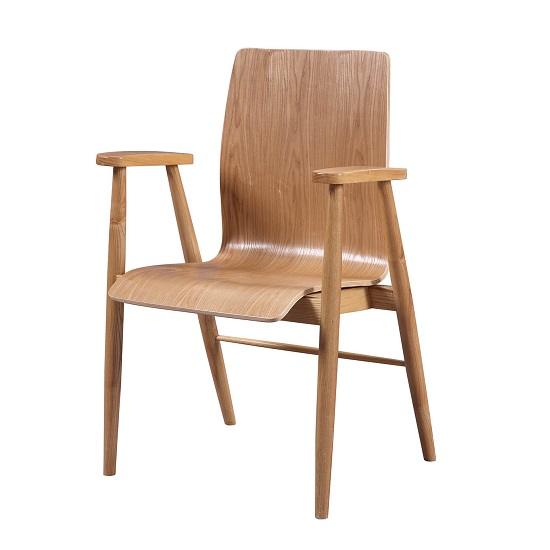 Hector Contemporary Wooden Home Office Chair In Ash