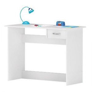 Jonas Wooden Computer Desk In Pearl White With 1 Drawer