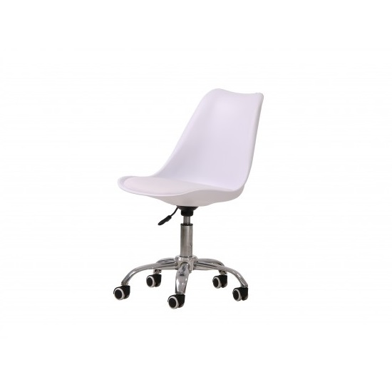 Larsson Swivel Home Office Chair In White