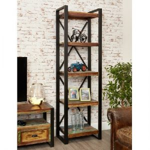 London Urban Chic Wooden Alcove Bookcase With 5 Shelf