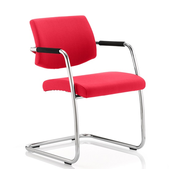 Marisa Office Chair In Cherry With Cantilever Frame