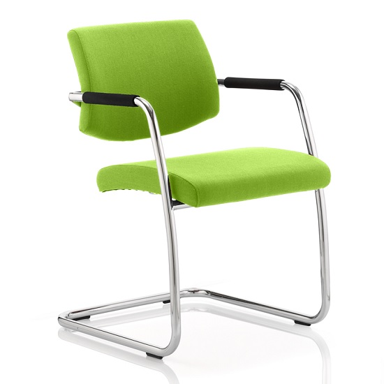 Marisa Office Chair In Green With Cantilever Frame