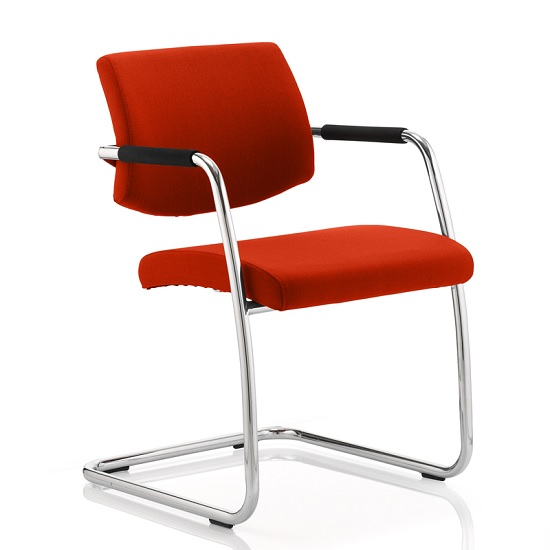 Marisa Office Chair In Pimento With Cantilever Frame