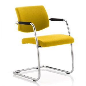 Marisa Office Chair In Yellow With Cantilever Frame