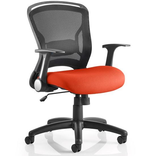 Mendes Contemporary Office Chair In Pimento With Castors