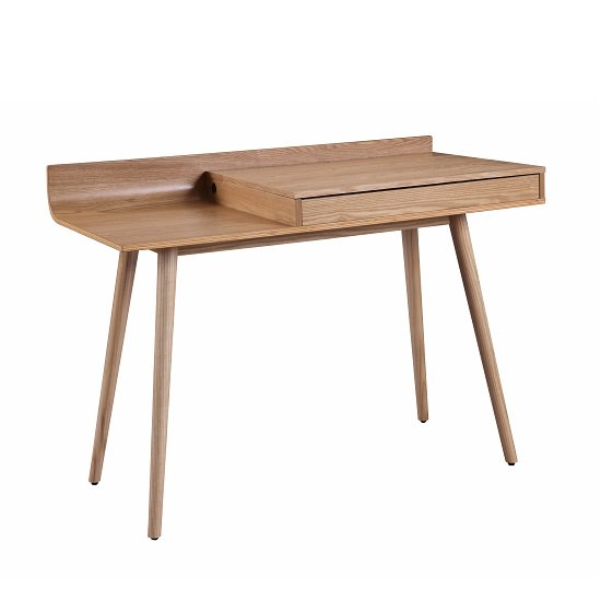 Morvik Wooden Computer Desk In Ash With Lift Up Lid