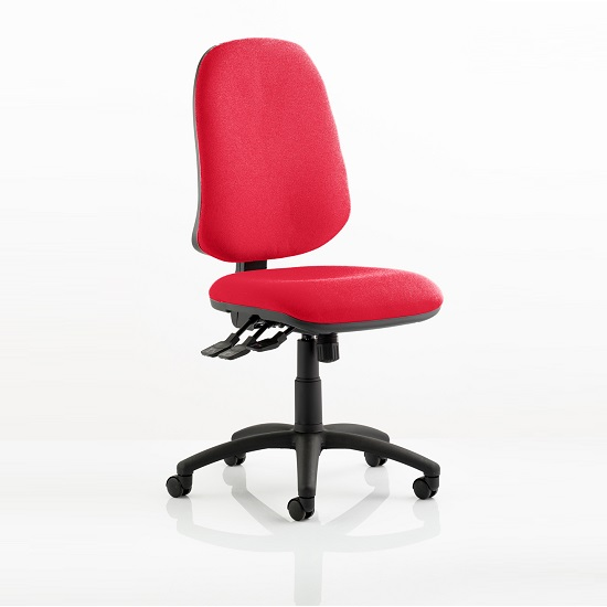 Olson Home Office Chair In Cherry With Castors