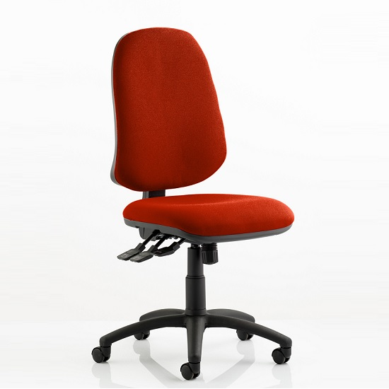 Olson Home Office Chair In Pimento With Castors