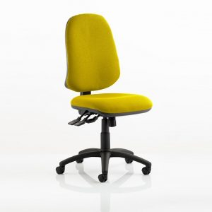Olson Home Office Chair In Yellow With Castors
