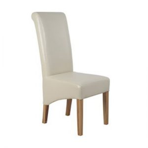 Parson Faux leather Cream Dining Chair