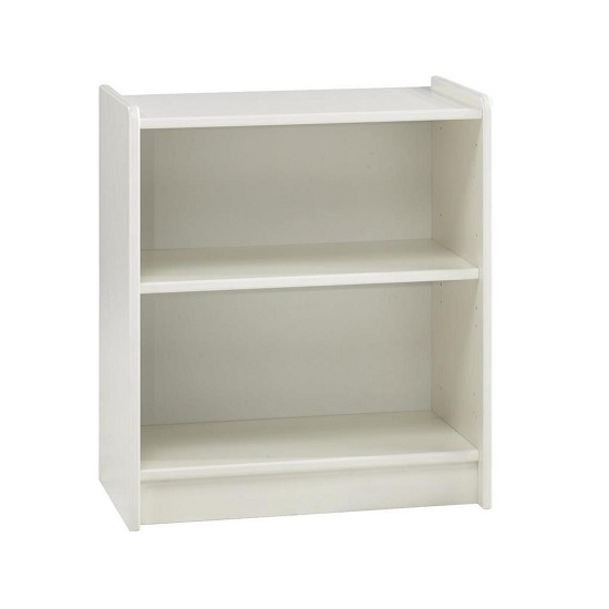 Pathos Childrens Low Bookcase In White With 2 Compartments