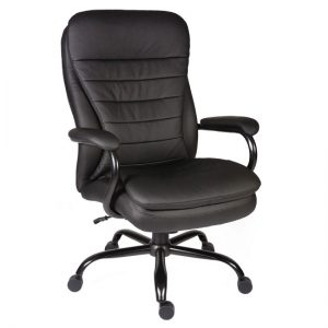 Penza Executive Office Chair In Black Bonded Leather