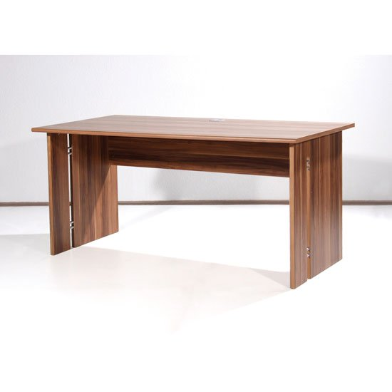 Power Wooden Computer Desk In Walnut