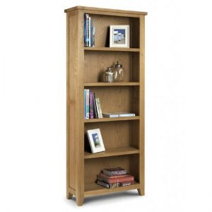 Raven Wooden Large Bookcase In Oak Finish With 5 Shelf