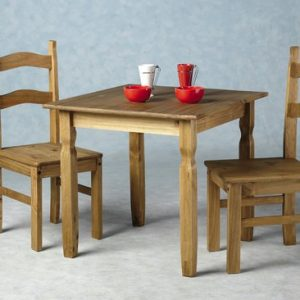 Rio Wooden Dining Table With 2 Chairs