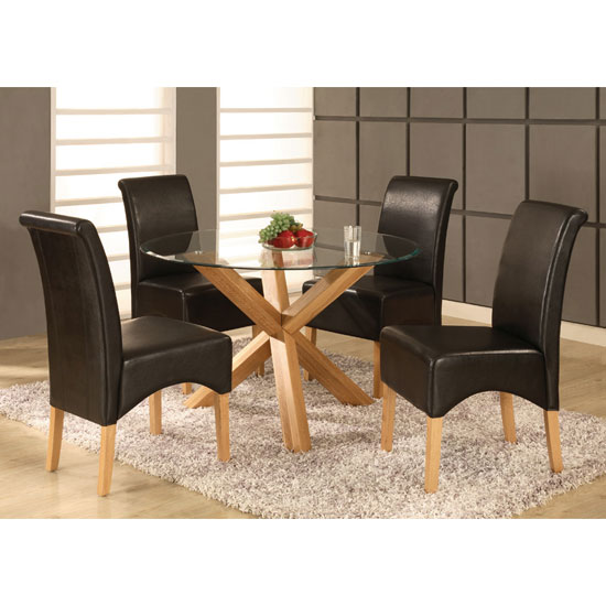 Saturn Dining Set with 4 Chairs