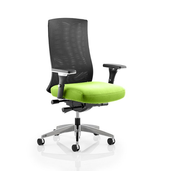 Scarlet Home Office Chair In Green With Castors