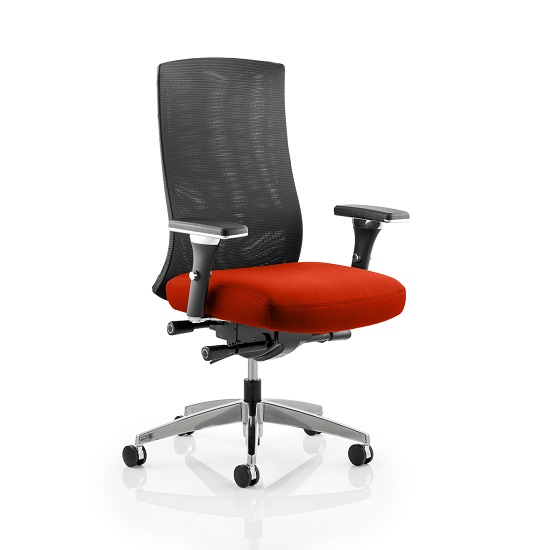 Scarlet Home Office Chair In Pimento With Castors