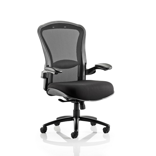 Spencer Modern Home Office Chair In Black With Castors