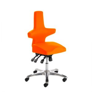 Stacy Home Office Chair In Pimento With Chrome Base