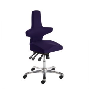 Stacy Home Office Chair In Purple With Chrome Base