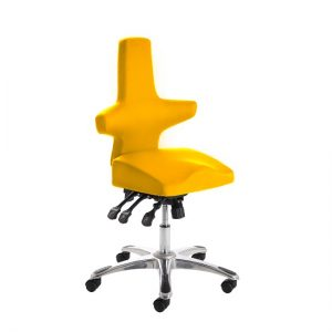 Stacy Home Office Chair In Yellow With Chrome Base