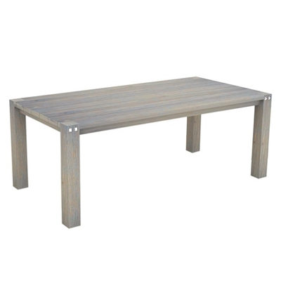 Sturdy Outdoor Dining Table, Grey
