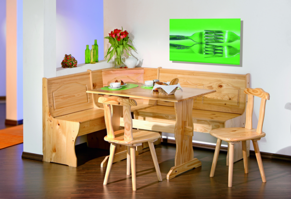 Tirol Corner Seat Dining Set in Alpine Style
